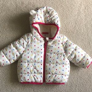 Brand New Baby Gap Girl Polka Dot Coat - 6-12m